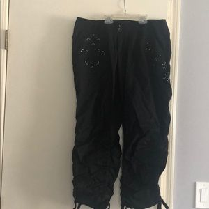 INC black drawstring pants